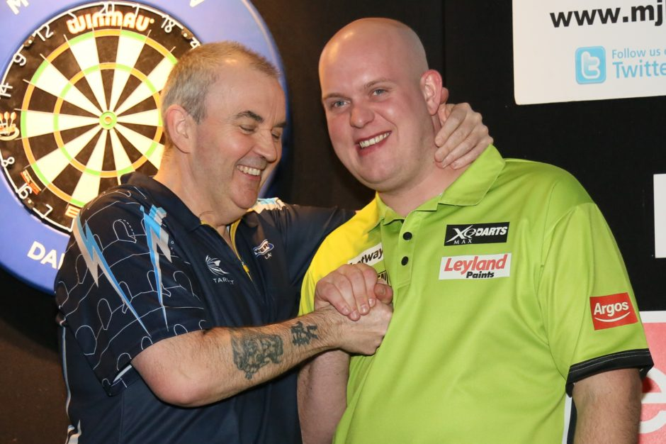 Phil Taylor and Micheal Van Gerwin